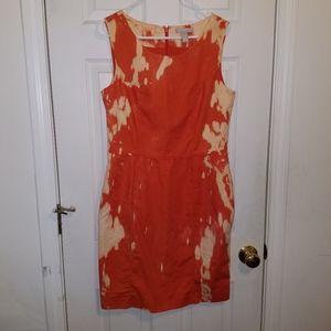 Banana Republic Tie Dye Orange White Dress